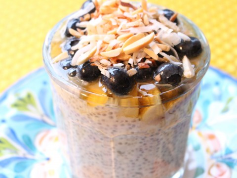 Chia Yogurt Coconut Parfait