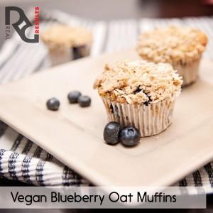 vegan blueberry muffins 2