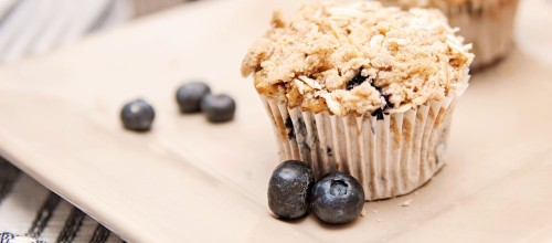 Vegan Blueberry Oat Muffins